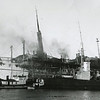 Erria,Danish Passenger Ship On Fire,1952 Columbia River,Knappton Tug Tonquin,Smith Tug Cougar,