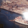 December 18th 1976,Sansinea Blew up At Berth 45 San Pedro,Los Angeles Harbor,3500 Ton Of Superstructure Laying On Dry Land,e