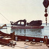 Two 175 Ton Sections Of Tanker Sansinea Cut Underwater,Raised Barged To Scrap Yard,1977,