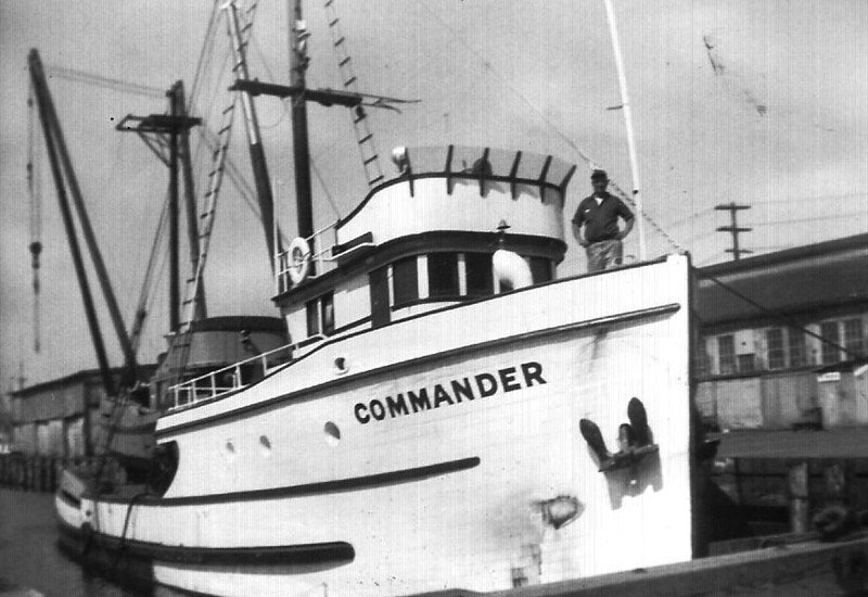 Commander,Built 1944 Tacoma,Halvdan Olsen,Clifford Andersen,Pic Taken Seattle,Beach Seiner On Deck,