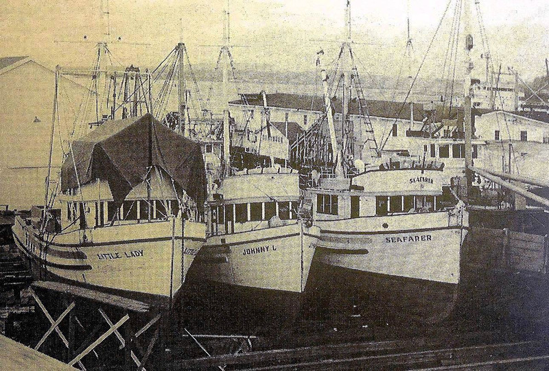 Little Lady,Built 1950 Tacoma,Johnny L,Built 1948 Everett,Seafarer,Built 1949 Tacoma,Winterized,Pacific American Fisheries,Bellingham,