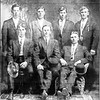 Front Left Edvard Sagen right Matt Olsen Back left Chris Sagen Nils Sagen Astoria 1914 Trollers