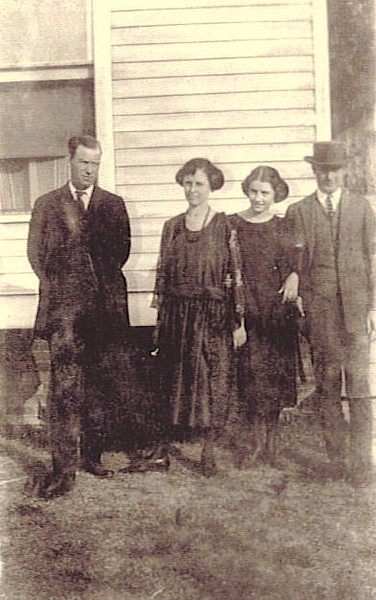 10. From left, Bud Barrett, sisters Maude and Marguerite Smith, and possibly one of their brothers. Bud was married to Maude's Aunt Nell Wells Barrett, and sadly, for the family, carried on a longtime affair with Maude.