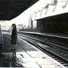 Jack Elizabeth Tric kett Waterfoot Station April 1963 waiting for train to Manchester