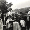 Waterfoot Coronation pageant 1953 Gresham Street, Jennifer Beardsworth, Carol Heap David Livesey Sylvia Godbert Michael Heap Eileen Livesey Marion Livesey