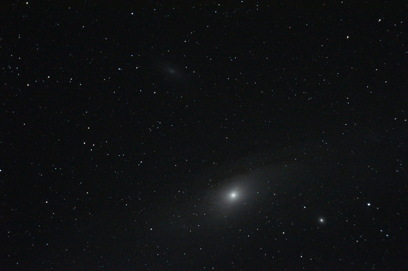 Astronomy - M31 - Great Andromeda Galaxy (Spiral)   M110 at top (Elliptical Gal in And)   M32 First Elliptical Galaxy at bottom R