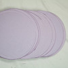 "2 13/16"" Round Circular tags with embossed edge. Set of 25. Wausau Papers, Exact Vellum Bristol/Cover Stock.  80 lb.  Color: Lavender.  One Set available, $2"