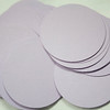 "1 7/16"" Round Circular tags. Set of 50. Wausau Papers, Exact Vellum Bristol/Cover Stock.  80 lb.  Color: Lavender.  two sets available, $2 each set."