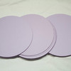 "1 7/8"" Round Circular tags with embossed edge. Set of 50. Wausau Papers, Exact Vellum Bristol/Cover Stock. 80 lb. Color: Lavender. One Set available, $3"