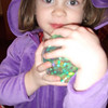 "<font size=""4""> Millie loves her glow ball from Grampa and Gramma </font> <br> Jan. 2011 <br>"