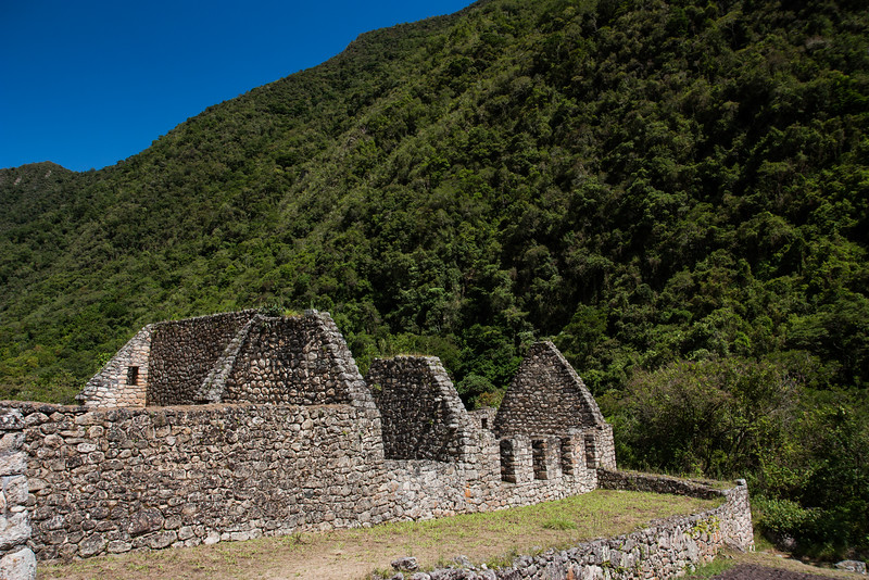 On our hike to Macchu Picchu. The very first set of ruins we came across. Right near the river.