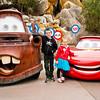 Mator and  Lightning McQueen (and Jamie and Georgie)