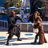To complete his training, Jamie faced Darth Maul, raised from the dead no less!
