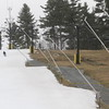 One of the only places one can find snow in the area is at Nashoba Ski Area where they are making it . SUN/David H.Brow.