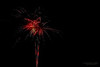 Colorful fireworks over the deep black night sky