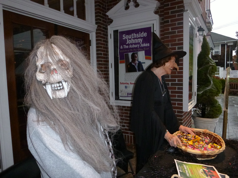 Trick or Treaters in front of the WHBPAC, Westhampton Beach, NY. Halloween 2013.