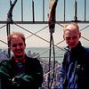 Ian and Oliver at the top of the Empire State Building