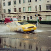 Taxi watersplash on Fifth Avenue