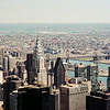 View of Chrysler Building and Queensboro Bridge  from Empire State
