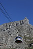 Capetown - Cable Car Ride Up Table Mountain - View to Top Station