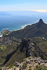 Capetown - Top of Table Mountain - View Towards City and Lions Head 2