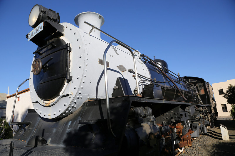 Calvinia - Museum - Steam Locomotive from Front