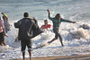 Swakopmund - Town Scenes - Locals Playing in the Surf 2