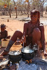 Himba Village Visit - Lunch Being Prepared