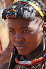 Himba Village Visit - Young Woman Closeup
