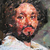 Peter McLaren, Homage to Velasquez (detail), Oil in Board, 36 x 30 inches