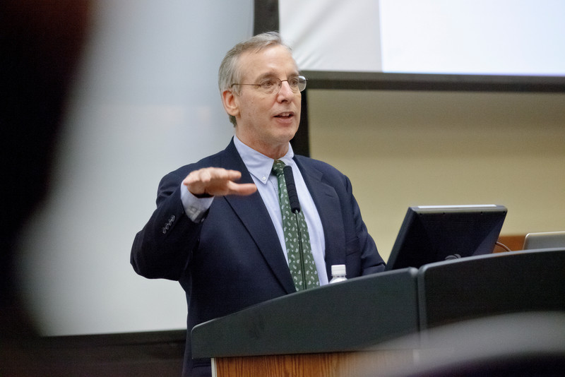 2012, Federal Reserve Bank of New York President William Dudley speaking to students, corporate executives and university officials.