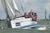 """Sunsail 4004N"" ""The Shutter Shop Ltd."" racing at Cowes Week 2014"