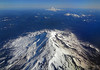 Mt Adams in the foreground and Mt Ranier in the background - Washington State