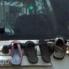 Slipper Storage On Automobile's Rear Windshield Wiper View From My Car Window  Honolulu, O'ahu 3 March 2012