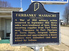 Fairbanks Massacre, Fairbanks, Sullivan County, Indiana.  Photographed March 2014.