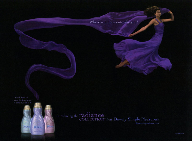 DOWNY Radiance Collection fabric softener 2008 US 'Introducing the Radiance Collection from Downy Simple Pleasures