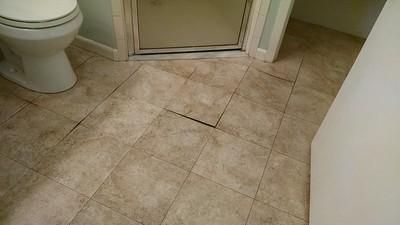 Leak under tiled floor