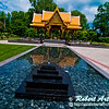Gold leaf etchings and intricate decorations dazzle visitors to the Thai Pavilion and Garden in Olbrich Botanical Gardens (USA WI Madison)