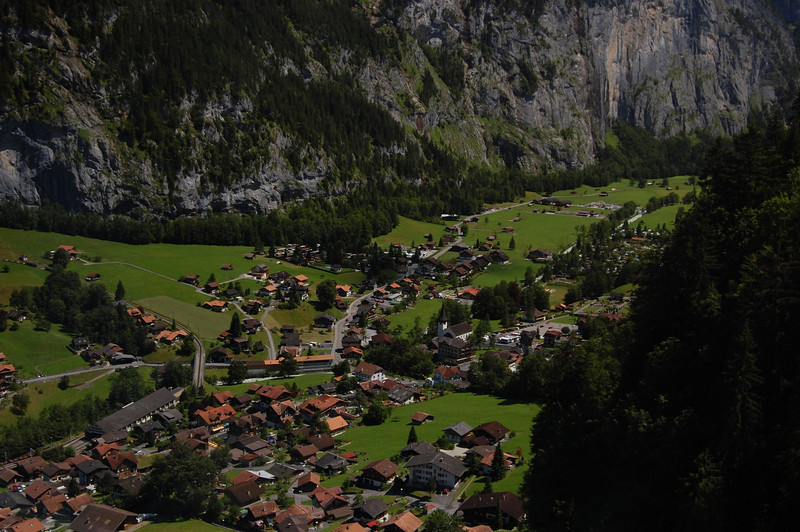 Lauterbrunnen from the Grutsap to Murren Cable Car