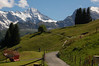 Murren Pastoral Scene with the Briethorn in the Background