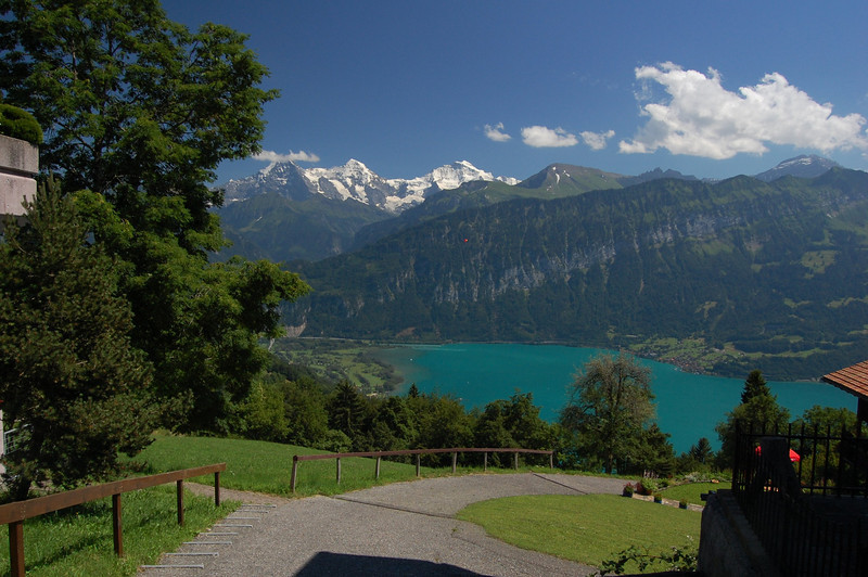 Eiger, Monch, and Jungfrau with the Thundersee from Beatenburg
