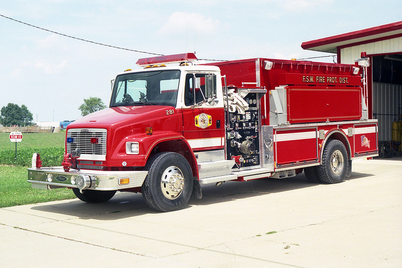 FOREST-STRAWN-WING FPD  WING FPD  ENGINE 281  2003 FREIGHTLINER FL-112 - PIERCE  1000-1800  # 13183