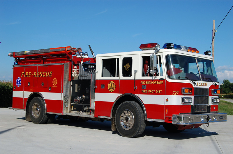 ARGENTA - OREANA FPD  ENGINE 727  1995 PIERCE SABER  1250-1000  BILL FRICKER PHOTO