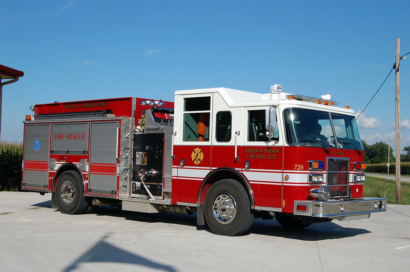 ARGENTA - OREANA FPD  ENGINE 726   2008 PIERCE SABER C  1250-1000-20  BILL FRICKER PHOTO