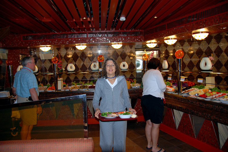 The Carnival Dream, buffet deck 10 aft food