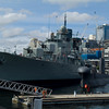 Stock photo of naval ships in Sydney Harbour