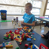 Jasper building with Lego at IDY's EPL Day Celebration on 13/03/14
