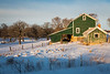 Green Barn, White Snow