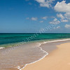 Beautiful Sandy Tropical Beach Ocean Seascape Blue Sky