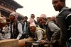Building Bhairab chariot in preparation of Bisket Jatra: <br /> assembling the chariot is a tough job